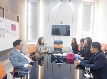 ผู้ช่วยอธิการบดีฝ่ายกิจการนักศึกษา ให้การต้อนรับ ผู้แทนจากสถาบัน Center for Professional Assessment (Thailand)