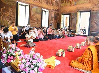 พิธีน้อมรำลึก 140 ปี วันคล้ายวันทิวงคต สมเด็จพระนางเจ้าสุนันทากุมารีรัตน์ พระบรมราชเทวี ณ วัดราชาธิวาสราชวิหาร จัดโดยสำนักศิลปะวัฒนธรรม