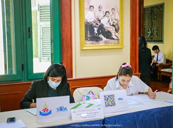 กองพัฒนานักศึกษา นำนักศึกษาเข้าช่วยงานรับรายงานตัว หลักสูตรประกาศนียบัตรบัณฑิตนวัตกรรมการจัดการสุขภาพยุคดิจิทัล ระหว่างวันที่ ๑๔-๑๕ ธันวาคม ๒๕๖๓ ณ พิพิธภัณฑ์อาคารสายสุทธานภดล