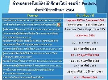 Final bend for portfolio round 1 SSRU Bangkok and Nakhon Pathom campus are available !