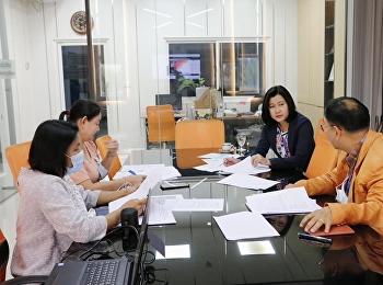 ประชุมออนไลน์พิจารณาให้การสนับสนุนการจัดกิจกรรมของนักศึกษา จำนวน 3 โครงการ