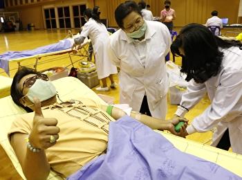 ฝ่ายกิจกรรมนักศึกษาและกิจการศิษย์เก่า ร่วมกับ ธนาคารเลือดวชิรพยาบาล จัดหน่วยบริการเคลื่อนที่รับบริจาคโลหิต ประจำเดือนกุมภาพันธ์